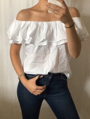 Off-The-Shoulder Top white