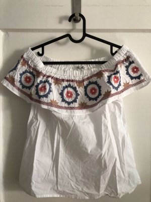 Only Cropped Shirt white