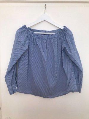 Schulterfreies Oberteil / Off-Shoulder Bluse Streifen / Zara
