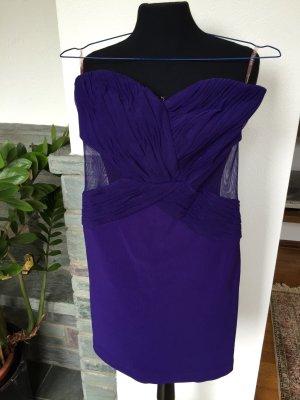 schulterfreies Partykleid mit Cut-Out und Mesh Einsatz an der Taille