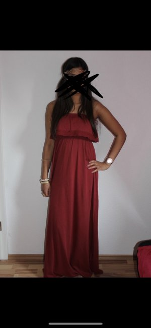 Gina Tricot Off the shoulder jurk karmijn-donkerrood