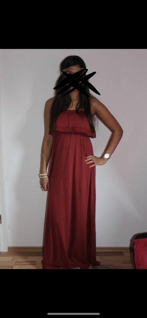 Schulterfreies rotes Kleid