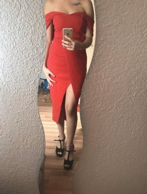 Boohoo Evening Dress red
