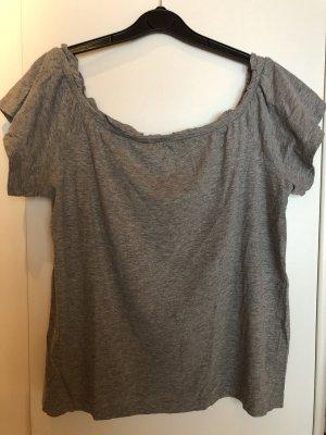 Schulterfreies Rüschen Shirt