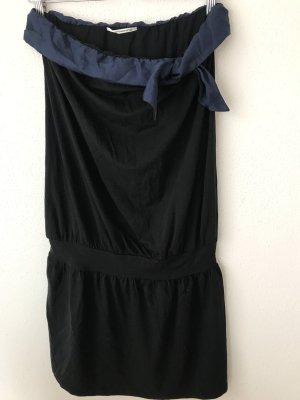 Schulterfreies schwarzes Kleid von Fornarina, Größe XS