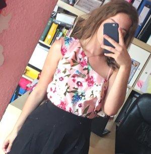 Takko Camisa de un solo hombro color rosa dorado