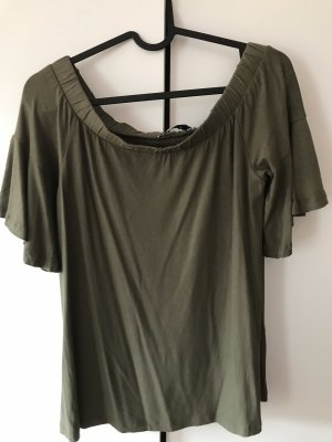 Pieces Off the shoulder top oker