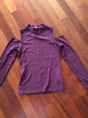 Amisu Camisa de un solo hombro violeta amarronado