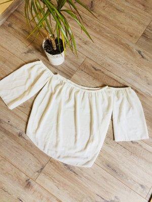Camisa de un solo hombro blanco