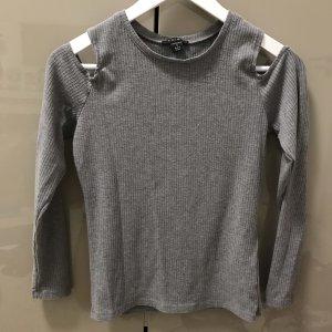 Amisu Camisa acanalada gris