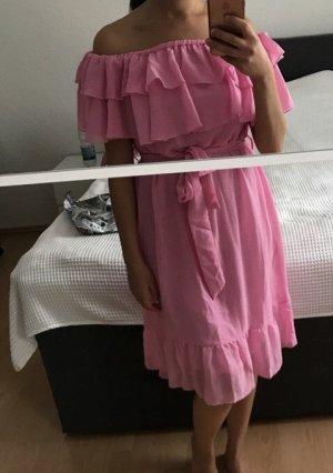 Nakd Off the shoulder jurk roze