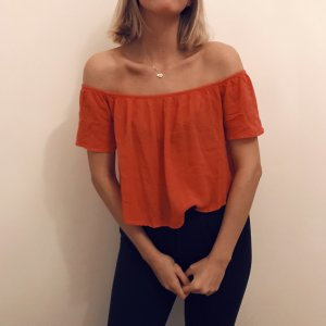 Gina Tricot Off-The-Shoulder Top bright red