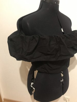 Zara Off-The-Shoulder Top black