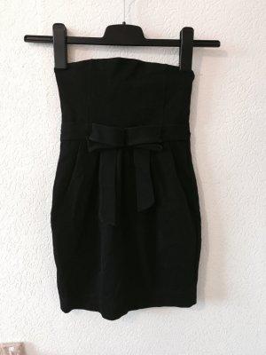 Schulterfreies Top in schwarz von Zara Größe S
