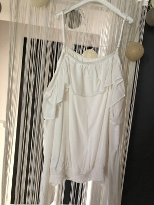 H&M Top cut-out bianco