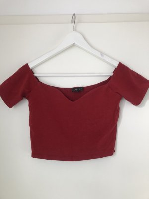 Asos Off the shoulder top rood-karmijn