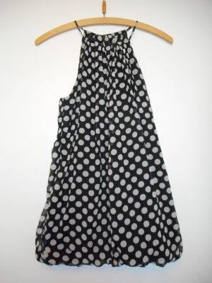 Schulterfreies Top von Vero Moda, Größe 40, schwarz/weiß gepunktet