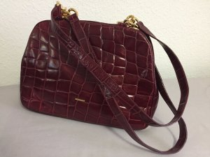 Emanuel Ungaro Shoulder Bag purple leather