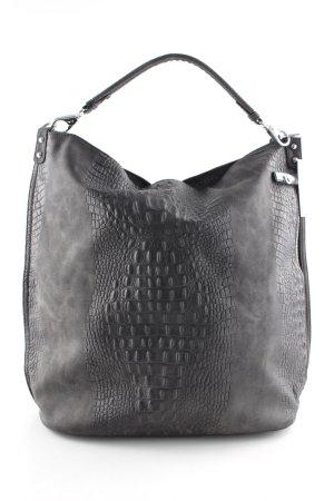 Shoulder Bag anthracite animal pattern casual look