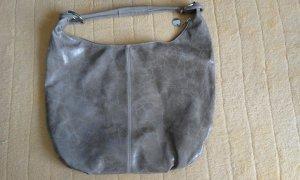 Schoudertas grijs-bruin Leer