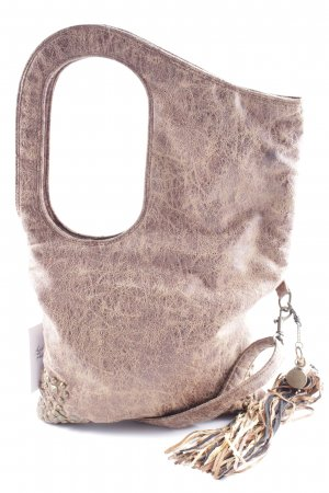 Shoulder Bag brown-light brown flecked Boho look