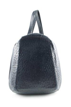 Schoudertas donkerblauw-zwart gestippeld patroon casual uitstraling