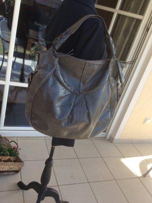 Schultertasche/Hobo Bag FRANCESCO BIASIA Vintage Steelfarben