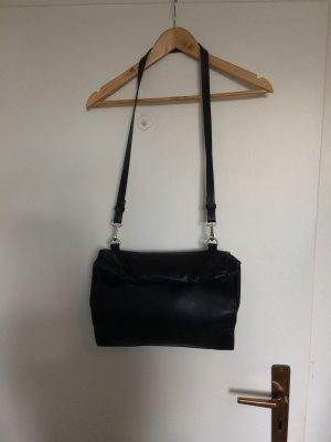 Zara Basic Schoudertas zwart Polyurethaan