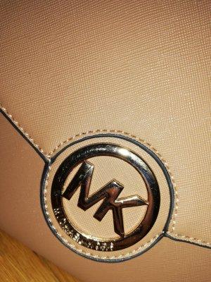 Schultertasche in Altrosa mit Goldenen Details