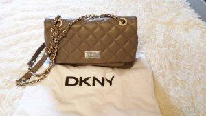 Schultertasche Leder DKNY khaki-oliv