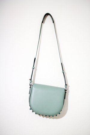 Schultertasche Lia Mint Studded Small Satchel Bag Metallic