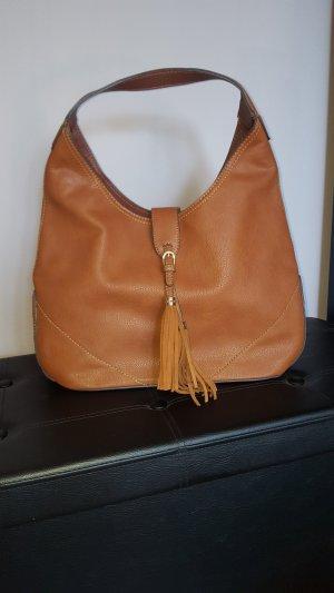 Mango Shoulder Bag cognac-coloured