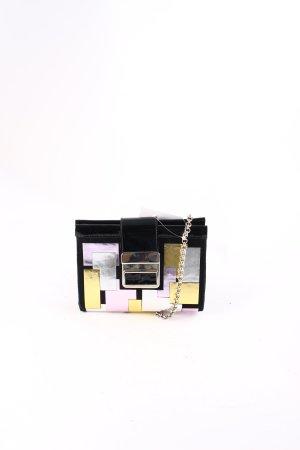 Schultertasche mehrfarbig Metallic-Optik