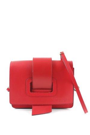 Schultertasche rot-schwarz Elegant