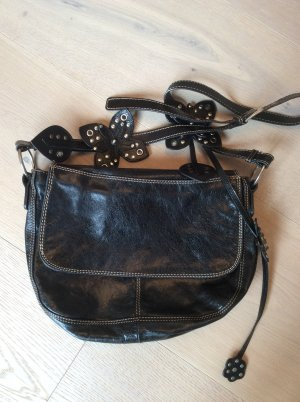 abro Shoulder Bag black leather