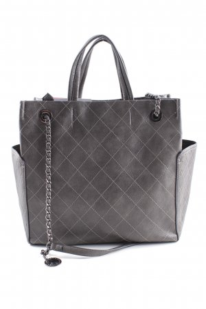 Schultertasche taupe Steppmuster Casual-Look