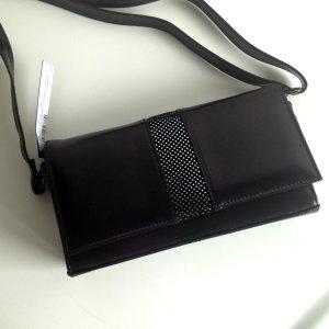 Schultertaschen / Handtaschen aus Leder mit Suede Detail