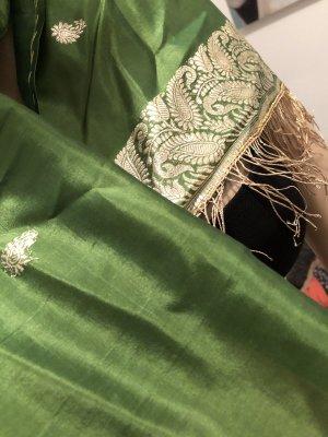 Pashmina color oro-verde bosque