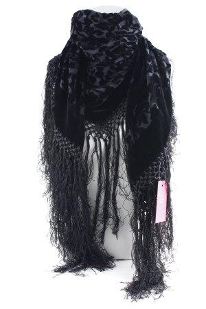 Schultertuch schwarz florales Muster extravaganter Stil