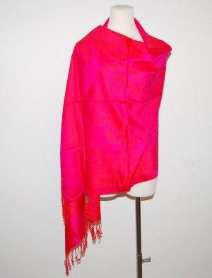 Pashmina Pashmina rosa-magenta Fibra sintetica