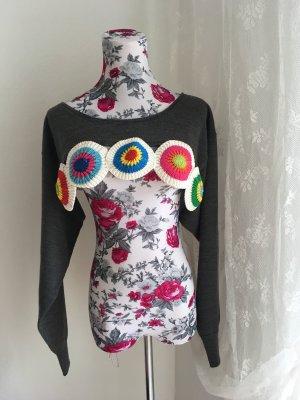 Bolero lavorato a maglia multicolore