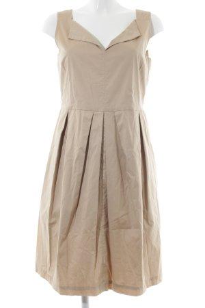 Schumacher A-Linien Kleid beige schlichter Stil