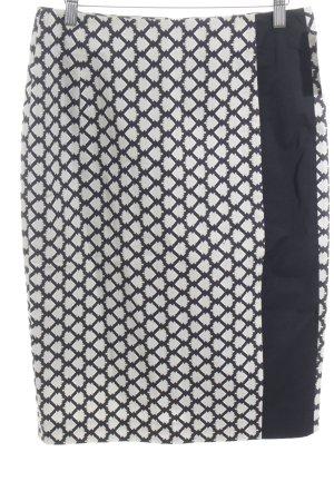 Schumacher Bleistiftrock schwarz-beige abstraktes Muster Elegant