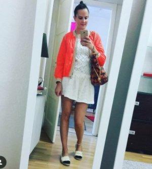Schumacher Blouson Neon Orange Nude Knallig Übergang leichte Jacke