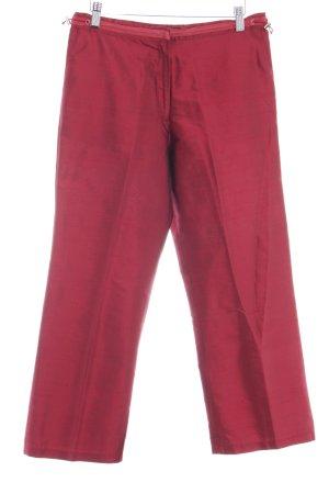 Schumacher Pantalon à pinces rouge carmin élégant