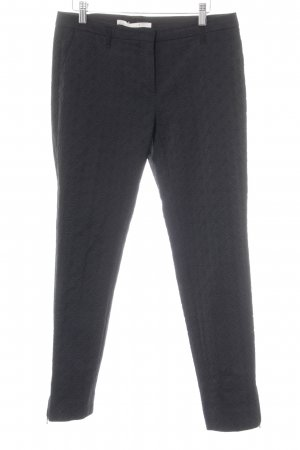 Schumacher Bundfaltenhose schwarz grafisches Muster Business-Look
