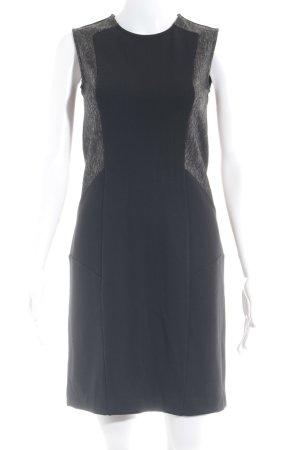 Schumacher Etuikleid schwarz-taupe abstraktes Muster Elegant