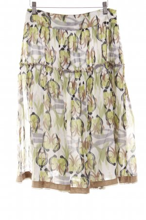 Schumacher Flared Skirt abstract pattern casual look