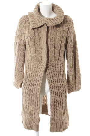 Schumacher Coarse Knitted Jacket beige flecked casual look
