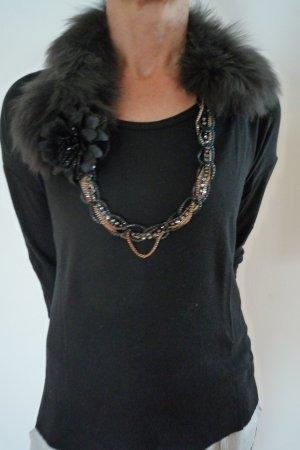SCHUMACHER Halskette mit Pelz/ Fellkragen, Schal mit Kette, neu!
